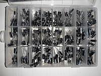 Набор электролитических конденсаторов 500шт в коробке (24 вида) 0,1-1000мкФ, фото 1