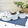 Кроссовки женские на шнуровке, цвет белый/бронза, фото 4