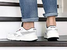 Мужские кожаные кроссовки Reebok,белые, фото 2