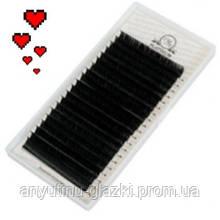 Ресницы для наращивания Platinum чёрные L 0.10 (9 мм)