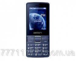 Кнопочный телефон синий с большим емким аккумулятором бюджетный на 2 сим карты AELion A500 Bluе