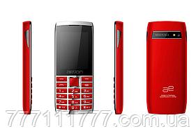 Кнопочный телефон с большим дисплеем и мощной большой батареей на 2 симки AELion A600 Metal/Red