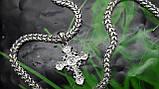 Срібна ланцюжок Рамзес з хрестом, фото 2