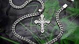 Срібна ланцюжок Рамзес з хрестом, фото 4