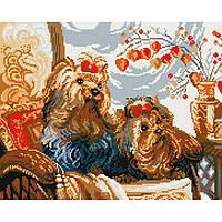 Алмазная живопись мозаика по номерам на холсте 40*50см BrushMe GJ004 Домашние любимицы