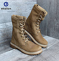 Ботинки женские берцы армейские нубук DMS-7 тактическая обувь