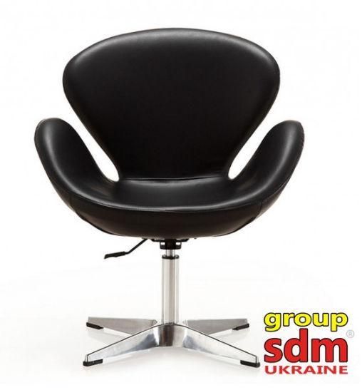 Кресло Сван (к/з Черный)