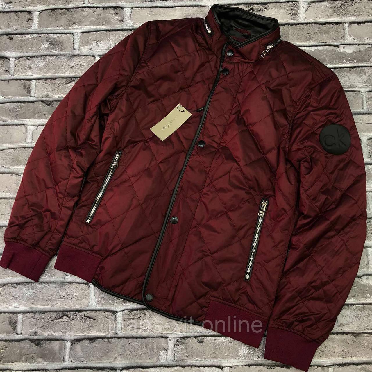 Куртка мужская 2XL(р) бордо 209083 Ck Турция Весна-C