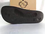 Стильные кожаные шлёпанцы серебро Milli Gold, фото 10