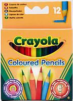 Карандаши цветные короткие 12цв. Crayola 4112