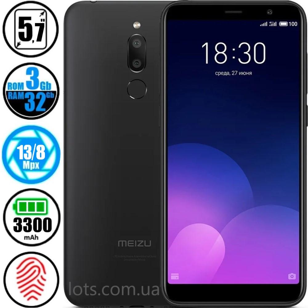 Смартфон Meizu M6T (3/32GB) Black + Подарок Защитное Стекло