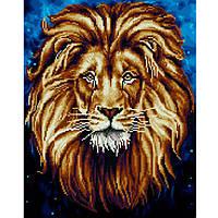 Картина раскраска по номерам на холсте - 40*50см с элементами мозаики BrushMe GZS1049 Лев