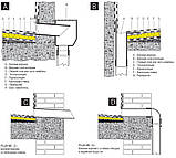 Колено трубы ф110 в трубу ф100 водостока для парапетной воронки, фото 3