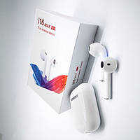 Беспроводные Bluetooth наушники в кейсе TWS i16 MAX Stereo Белый