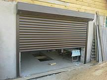 Защитная ролета для гаража Алютех ( ALUTECH ) AR/555 размер 1800x1800мм с приводом AN-Motors NK1/15-16