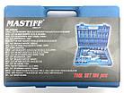Набір інструментів ключів головок Mastiff 108 предметів CrV, фото 3