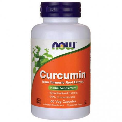 Куркума Curcumine NOW 60 veg caps, фото 2
