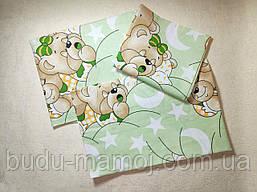 Постельное белье хорошего качества в кроватку Мишки