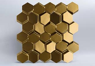 "Гипсовые 3D панели ""Alvarium Premium"" Gold 500*500*25 мм"