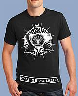 Молодёжная хайповая мужская футболка  с принтом MORELLO очень стильная и модная!