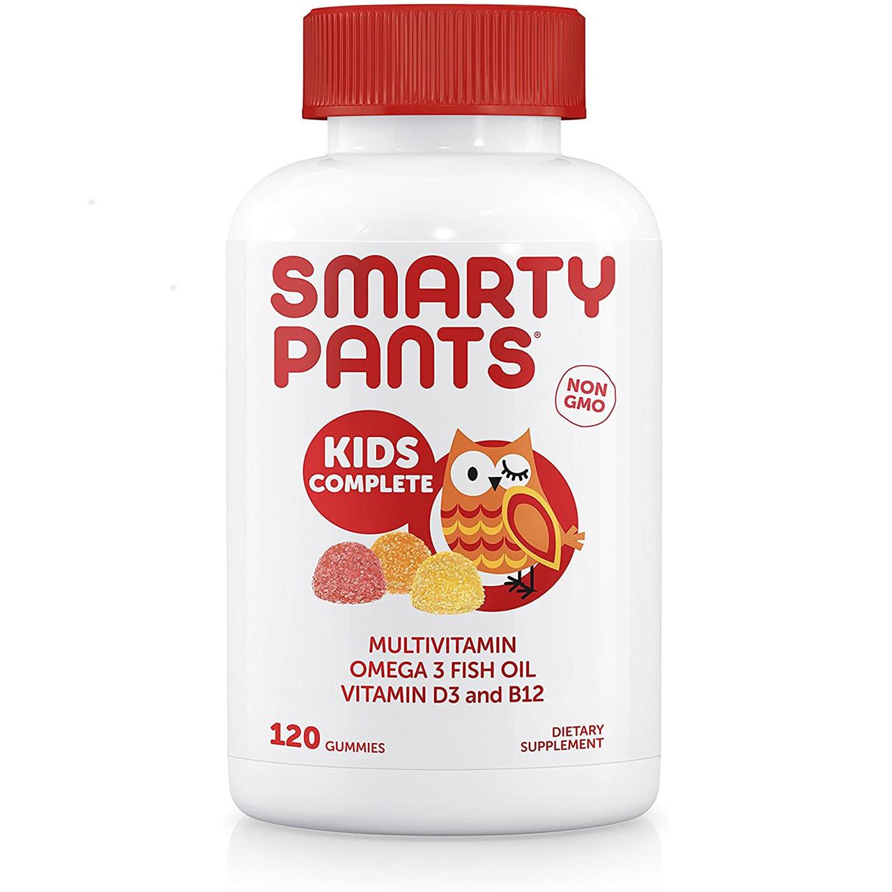 Smartypants Kids Complete Gummy Vitamins, Жевательные Мультивитамины для детей + Омега-3, 120 штук, США