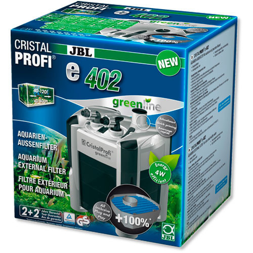Внешний фильтр JBL CristalProfi e402 greenline для аквариумов 40-120 л