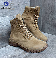 Ботинки женские нубук DMS-8 coyote демисезонная тактическая обувь