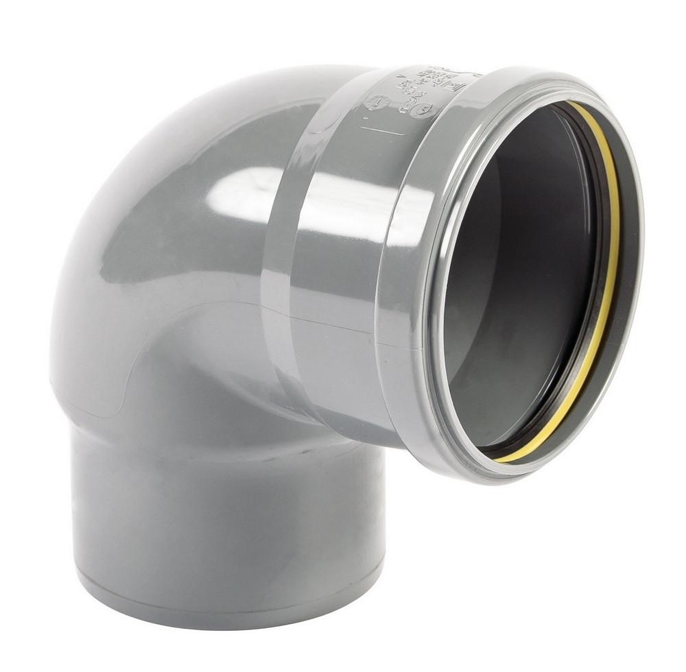 Колено трубы ф110 в трубу ф100 водостока для парапетной воронки