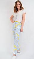 Костюм женский летний футболка и брюки шифон Турция PERSONI DDC-3011
