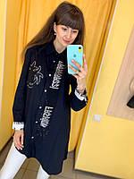 Рубашка Жін. 1(р) чорний 7349 Paparazzi Туреччина Весна-C