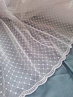 Тюль сетка в зал. Турецкая тюль на фатине в белом и молочном цвете.
