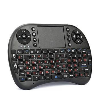 Клавиатура беспроводная Rii Mini i8 RUS Backlit, Black