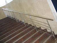 Ограждения лестници из нержавейки с 5-а леерами
