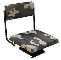 Поворотное кресло металлическое для надувной лодки