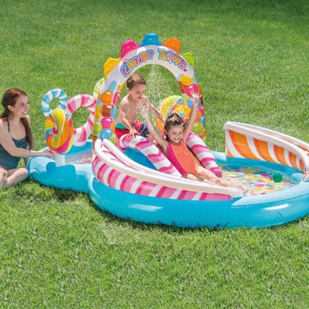 """Детский надувной игровой центр бассейн Intex 57149 """"Sweets"""" 295 см х 192 см х 130 см"""