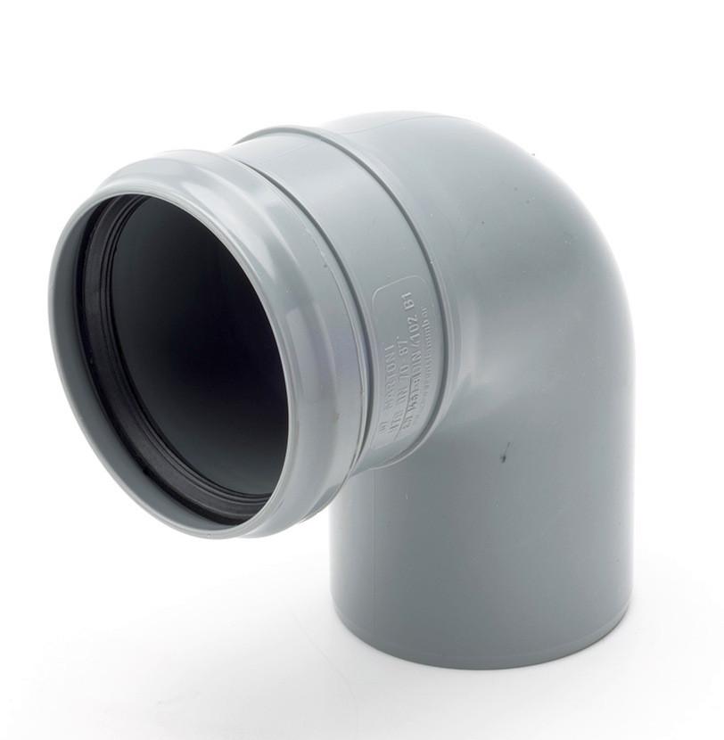 Колено трубы ф90 в трубу ф90 водостока для парапетной воронки