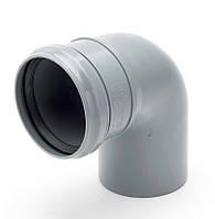 Колено трубы ф90 в трубу ф90 водостока для парапетной воронки, фото 1