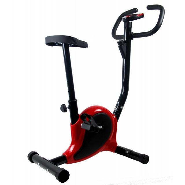 Велотренажер для дому вертикальний до 100 кг механічний Point червоний