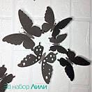 Набор ажурных 3д бабочек Лили, объемные бабочки из картона или бумаги, метелики 3d, фото 5