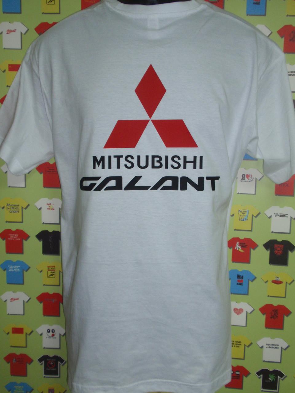 Футболка Mitsubishi Galant белая