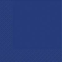 Серветки Сині паперові сервіровані однотонні - 20шт/уп -