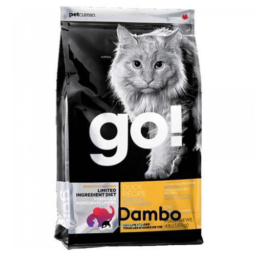 Беззерновой корм GO! Sensitivity + Shine Grain Free Duck Cat Recipe для кошенят і кішок зі свіжою качкою, 7.26 кг