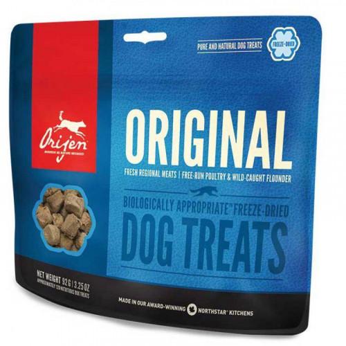 Лакомство Orijen Original Dog со вкусом курицы и индейки для собак всех пород и возрастов, 92 г