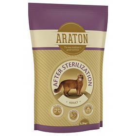 Сухий корм Araton Adult After Sterilization для стерилізованих кішок вагою від 1 до 8 кг, 1.5 кг