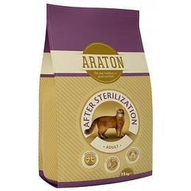 Сухий корм Araton Adult After Sterilization для стерилізованих кішок вагою від 1 до 8 кг, 15 кг