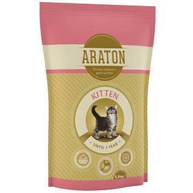 Сухий корм Araton Adult Kitten для котів вагою від 0.5 до 5 кг, 1.5 кг