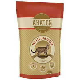 Сухий корм Araton Adult With Salmon для котів вагою від 1 до 8 кг, 1.5 кг