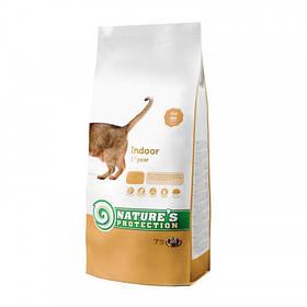 Сухий корм Natures Protection Indoor для збалансованого харчування кішок котів вагою від 1 до 8 кг, 7 кг