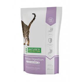 Сухой корм Natures Protection Sensitive Digestion для кошек с чувствительным пищеварением весом от 1 до 8 кг, 400 г