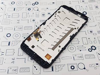 Дисплей Alcatel One Touch Pixi 3 4027d модуль черный Сервисный оригинал с разборки